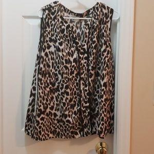 Calvin Klein Cheetah No Sleeve Blouse